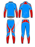 "Комбинезон ""KV+"" LAHTI 2 pieces suit blue/red, Junior"
