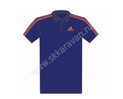 Поло мужское ADIDAS CO Polo M 2015-2017 midind фиол