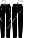 Лыжная одежда KV+ PANTS LAHTI Jr. pro-wind-tech fabric (black)